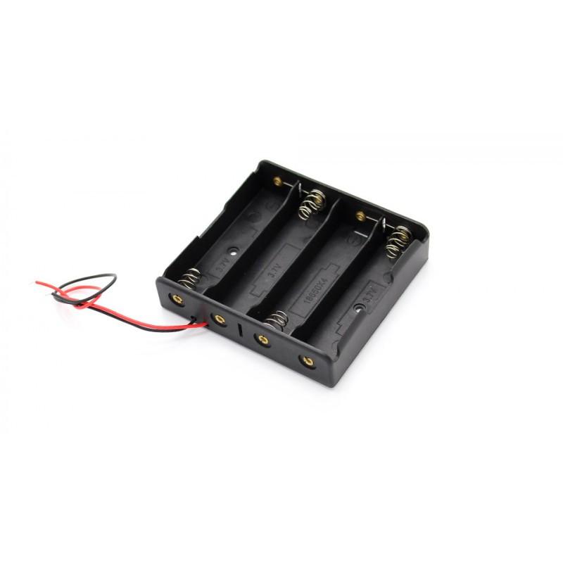 Батарейный отсек 4 х 18650 / Купить в магазине Arduino Pro