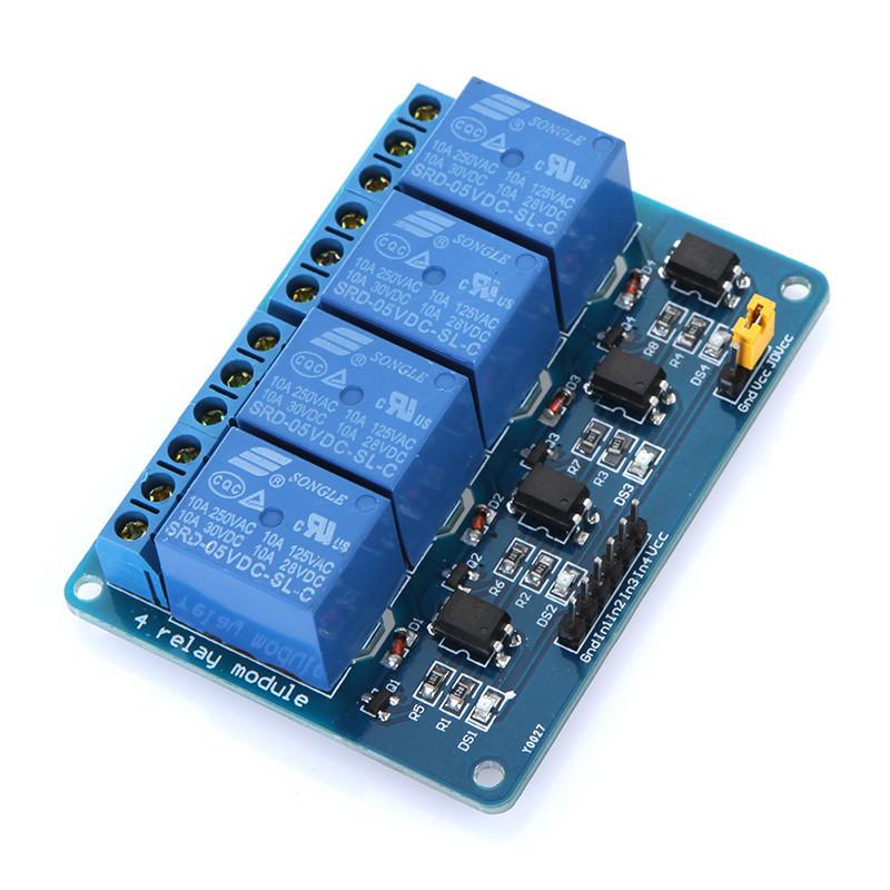 Модуль реле 4-канала электромеханическое купить в магазине Arduino Pro