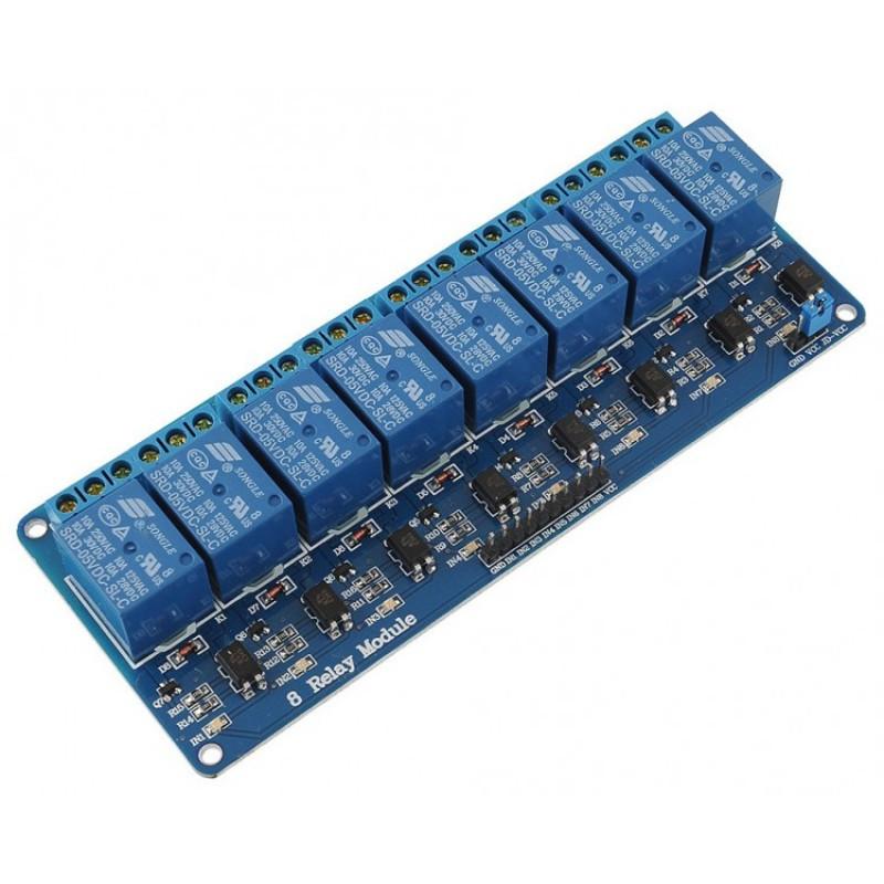 Модуль реле 5В 8-каналов 1-ряд электромеханическое  / купить в магазине Arduino Pro