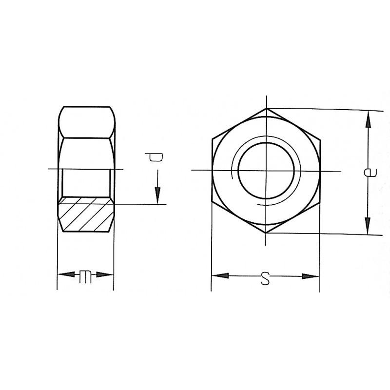 Гайка M3 DIN934 / Купить в магазине Arduino Pro