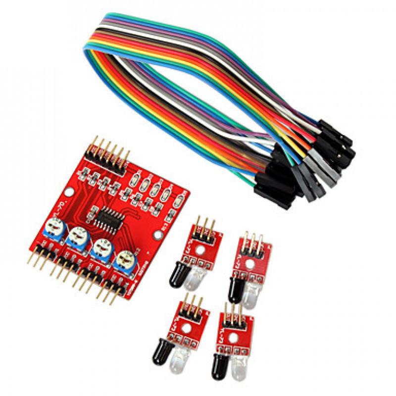 Датчик препятствий 4-канальный  / Купить в магазине Arduino Pro