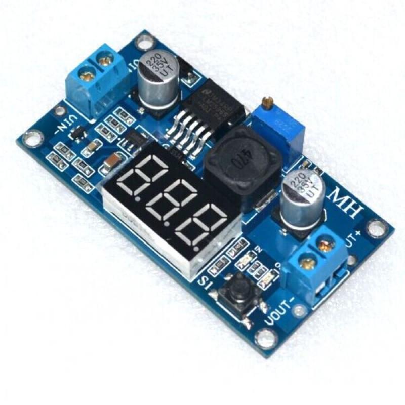 Понижающий DC-DC преобразователь LM2596 с вольтметром / Купить в магазине Arduino Pro