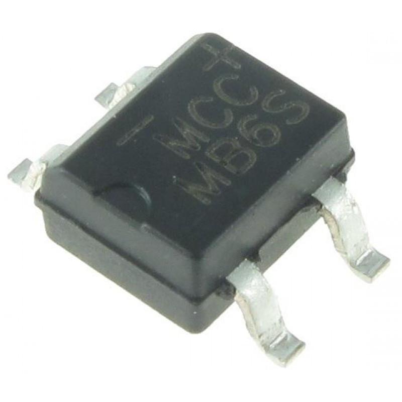 Диодный мост MB6S (0.5A 600В) / Купить в магазине Arduino Pro