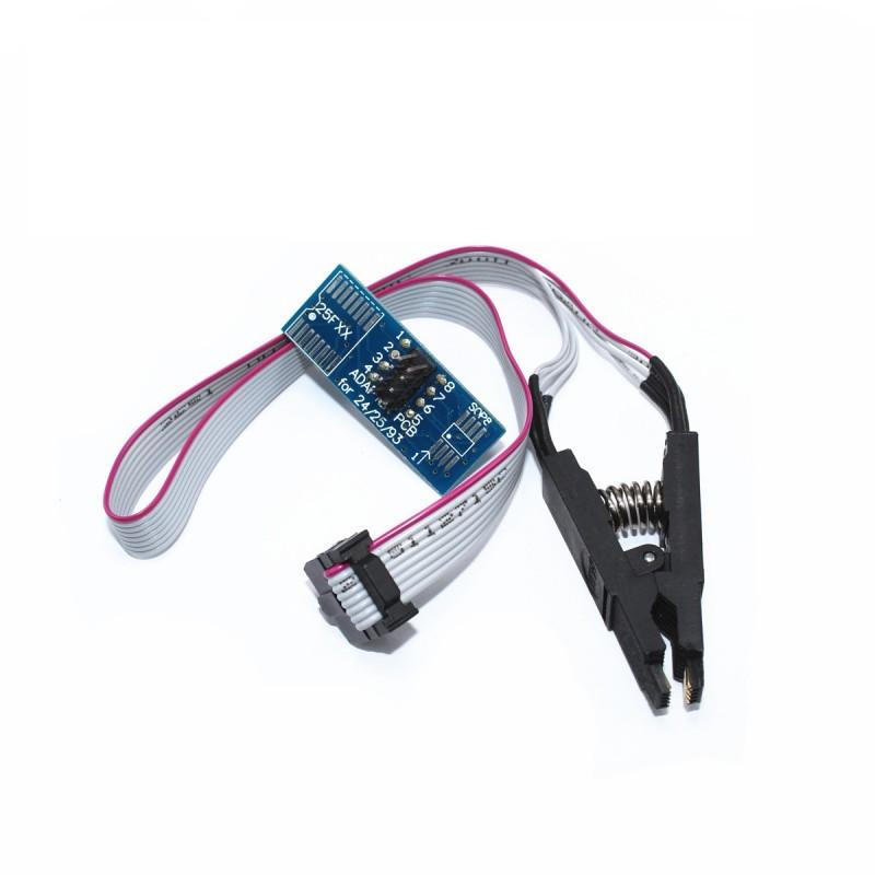 Прищепка для SOP-8 с кабелем и переходником / купить в магазине Arduino Pro