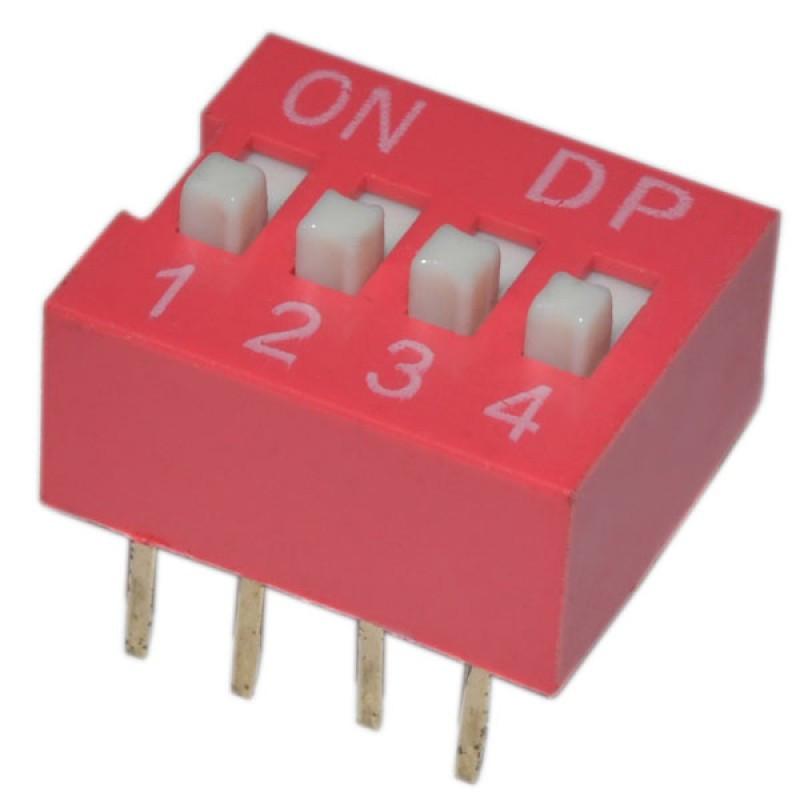 SWD-04 (DS-04) DIP переключатель / Купить в магазине Arduino Pro