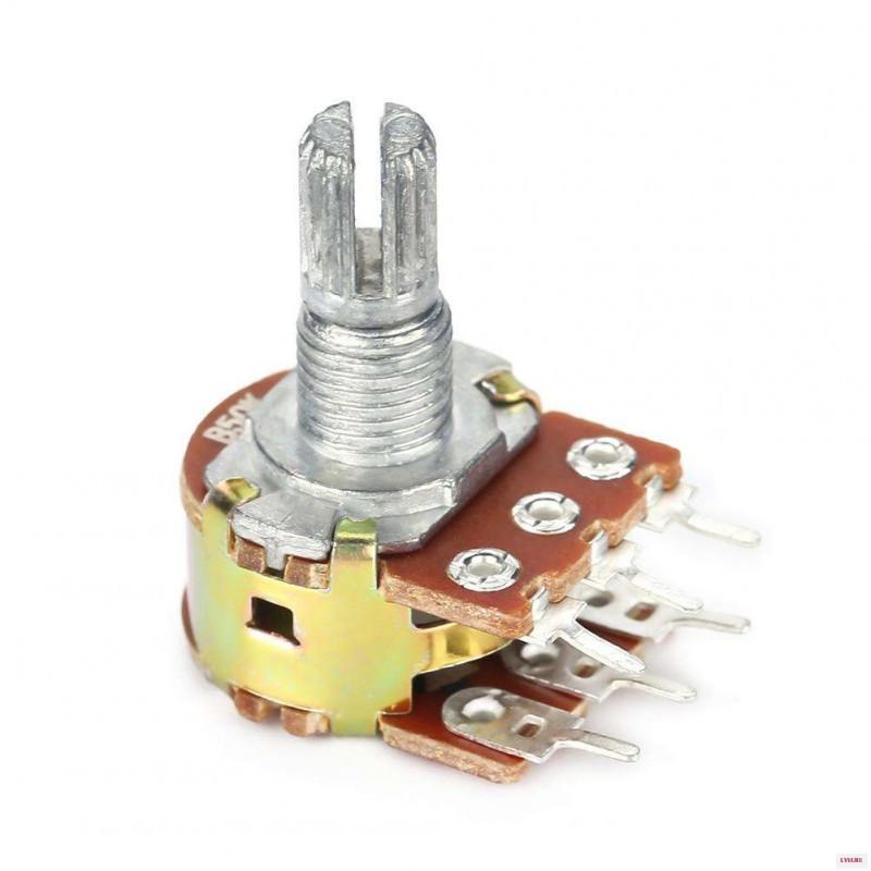 Сдвоенный потенциометр WH148-2 1МОм  / Купить в магазине Arduino Pro