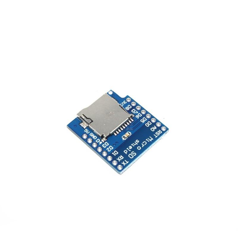 Купить WeMos D1 mini microSD Shield