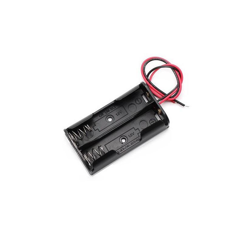 Батарейный отсек  2 x АА / Купить в магазине Arduino Pro