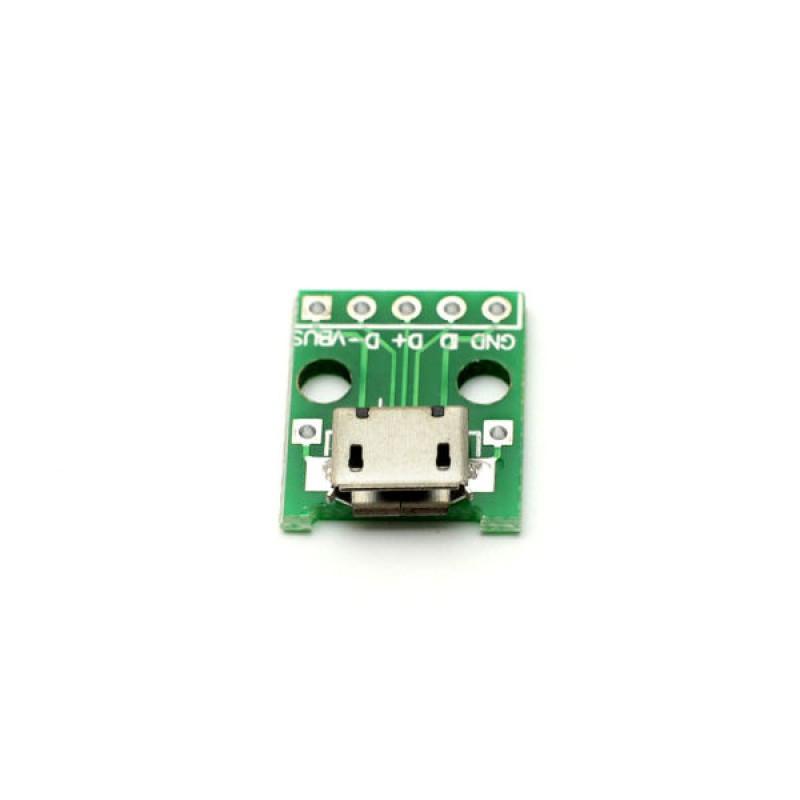 Micro-USB (разъем) плата-переходник / Купить в магазине Arduino Pro
