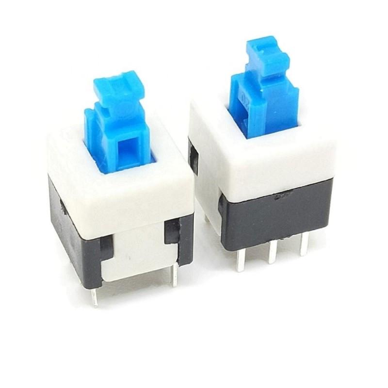 Переключатель кнопочный 8*8 с фиксацией  / Купить в магазине Arduino Pro