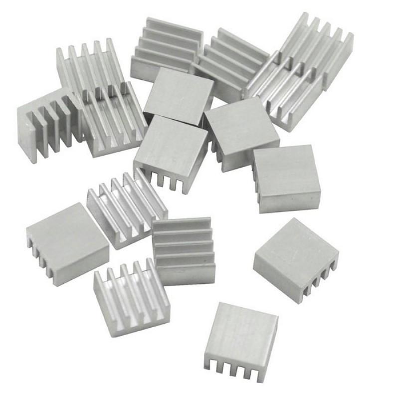 Радиатор алюминиевый ребристый 8х8х5 мм / Купить в магазине Arduino Pro